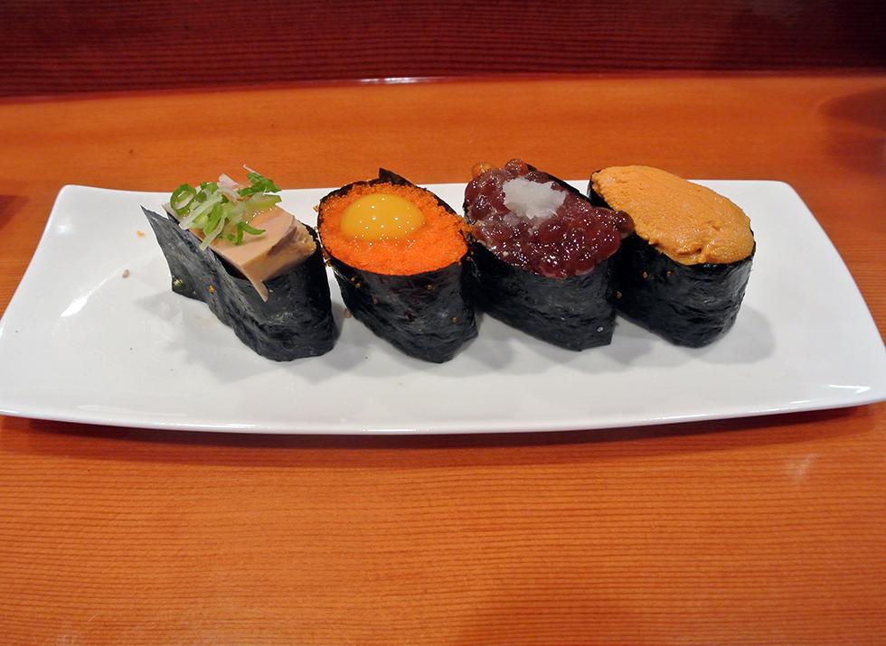 Monkfish-Masago-Sujiko-Uni